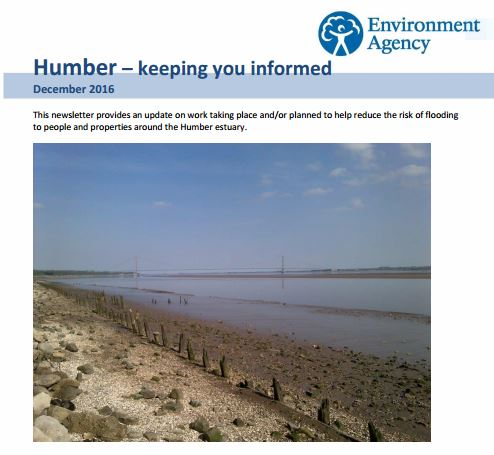Environment Agency Humber Newsletter - December 2016